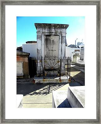New Orleans Crypt 8 Framed Print by Patricia Bigelow