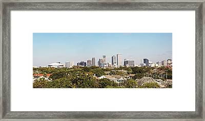 New Orleans Downtown Skyline Panorama Framed Print