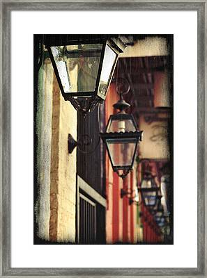 New Orleans Gas Lamps Framed Print