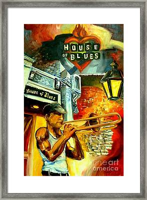 New Orleans' House Of Blues Framed Print by Diane Millsap