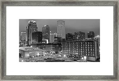 New Orleans In Black And Night Framed Print