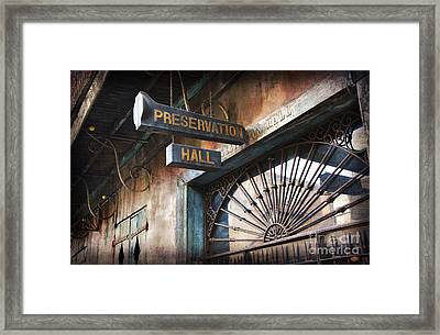 New Orleans Jazz Framed Print by Jeanne  Woods