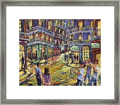 New Orleans Jazz Night By Prankearts Fine Art Framed Print by Richard T Pranke