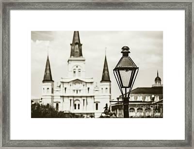New Orleans Landmark - Sepia Framed Print