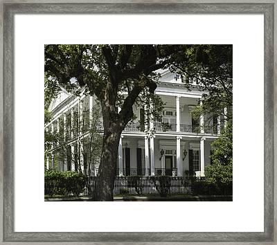 New Orleans Mansion Framed Print by Anne Witmer