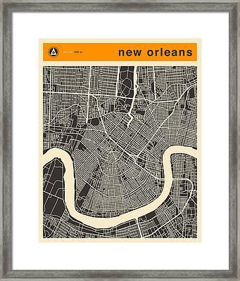 New Orleans Map Framed Print