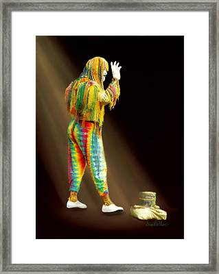 Framed Print featuring the painting New Orleans Mime by Sena Wilson