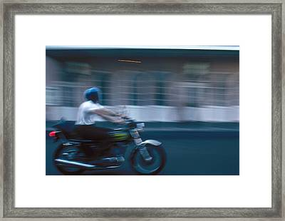 New Orleans: Motorcycle Framed Print by Granger