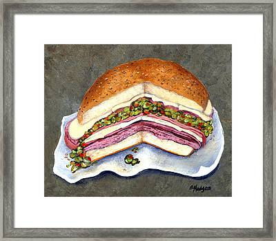New Orleans Muffaletta Framed Print by Elaine Hodges