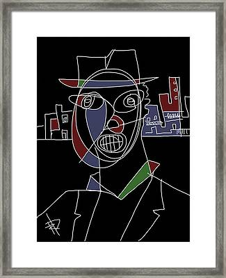 New Orleans Musician Framed Print by Russell Pierce