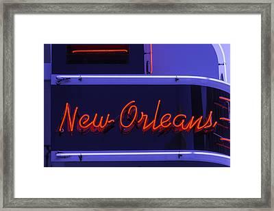 New Orleans Neon Framed Print