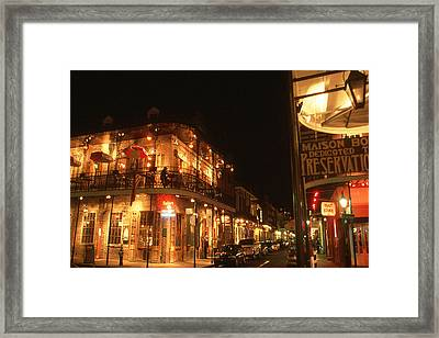 New Orleans Jazz Night Framed Print by Art America Gallery Peter Potter
