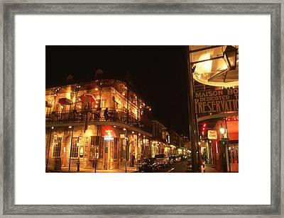 New Orleans Jazz Night Framed Print
