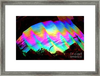 New Orleans Northern Lights  Abstract Aurora Framed Print by Michael Hoard
