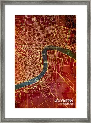New Orleans Old Map 1932 Framed Print