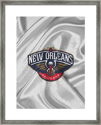New Orleans Pelicans Framed Print by Afterdarkness