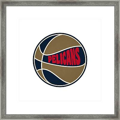 New Orleans Pelicans Retro Shirt Framed Print