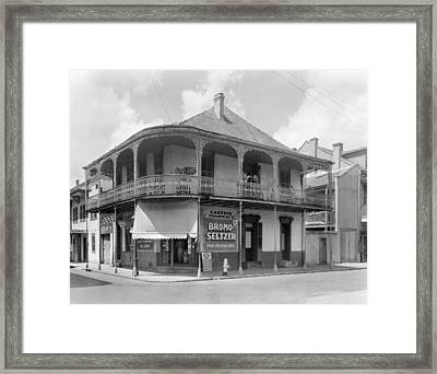 New Orleans Pharmacy Framed Print by The Granger Collection