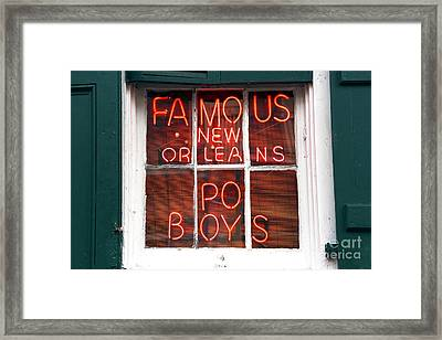 New Orleans Po Boys Framed Print by John Rizzuto
