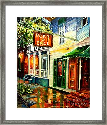 New Orleans Port Of Call Framed Print by Diane Millsap