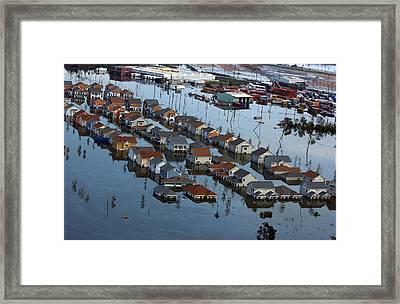 New Orleans Residential Neighborhood Framed Print by Everett