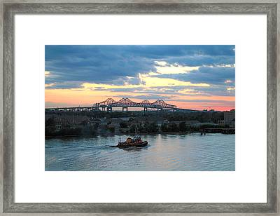 New Orleans Riverfront Framed Print