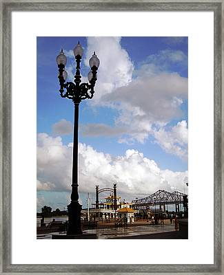New Orleans Riverwalk Framed Print by Joy Tudor