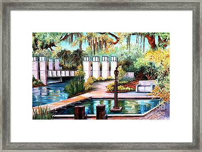 New Orleans Sculpture Garden Framed Print by Diane Millsap