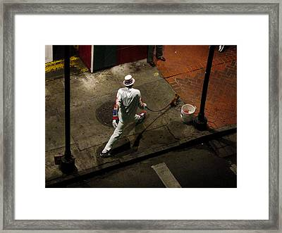 New Orleans Shuffle Framed Print by Linda Kish