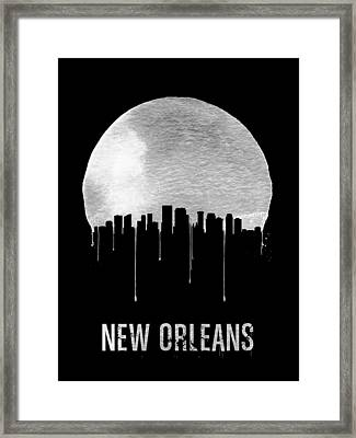 New Orleans Skyline Black Framed Print by Naxart Studio