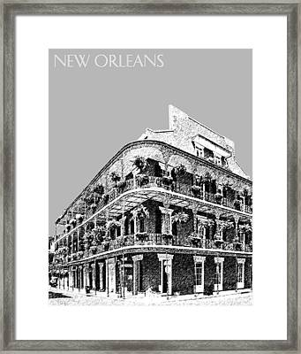 New Orleans Skyline French Quarter - Silver Framed Print by DB Artist