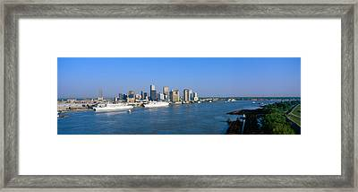 New Orleans Skyline, Sunrise, Louisiana Framed Print by Panoramic Images