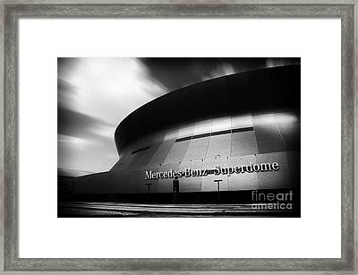 New Orleans Stadium Framed Print by Alessandro Giorgi Art Photography