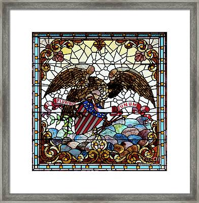 New Orleans Stained Glass Framed Print