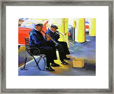 New Orleans Street Jazz Framed Print