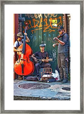 New Orleans Street Musicians Framed Print by Steve Harrington
