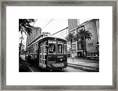 New Orleans Streetcar - Bw Framed Print