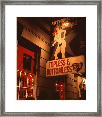 New Orleans Topless Bottomless Sexy Framed Print