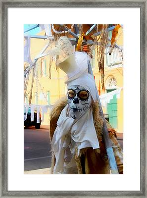 New Orleans Voodoo Man Framed Print by Barbara Chichester
