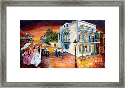 New Orleans Wedding Party Framed Print by Diane Millsap