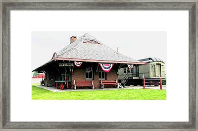 New Oxford Pennsylvania Train Station Framed Print