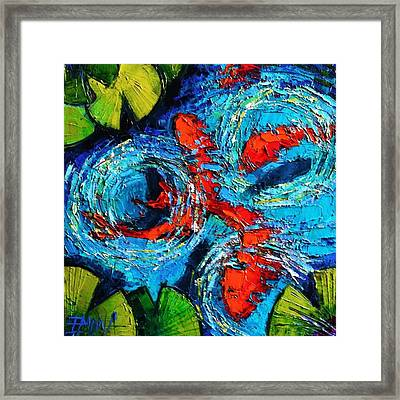 New Painting! #koi #fishes #oilpainting Framed Print