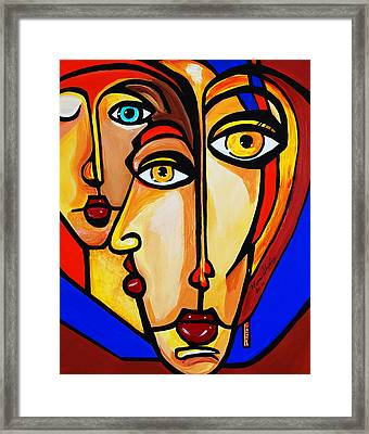 New Picasso By Nora Friends Framed Print