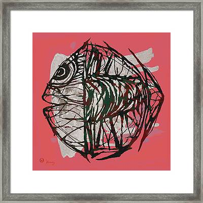New Pop Art Tropical  -  Fish Poster Framed Print by Kim Wang