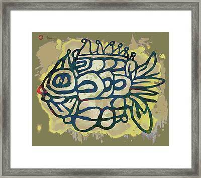 New Pop Art - Tropical Fish Poster Framed Print by Kim Wang