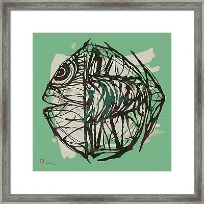 New Pop Art Tropical - New Fish Poster Framed Print by Kim Wang