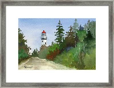 New Presque Light Framed Print