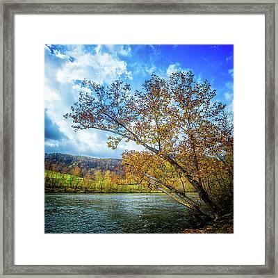 New River In Fall Framed Print
