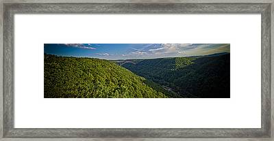 New River Panoramic Framed Print