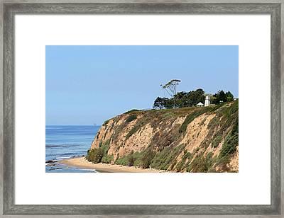 New Santa Barbara Lighthouse - Santa Barbara Ca Framed Print by Christine Till